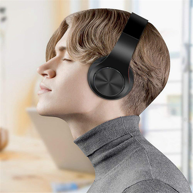 New Portable Wireless Headphones Bluetooth Earphone /Headset Foldable Stereo Audio Mp3 Adjustable Earphones with Mic for Music 5