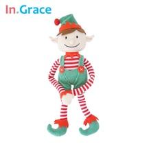 Рождественский эльф куклы мода забавные плюшевые игрушки для санта украшения lifelike фестиваль уникальный подарок для детей 33 СМ длинная рука