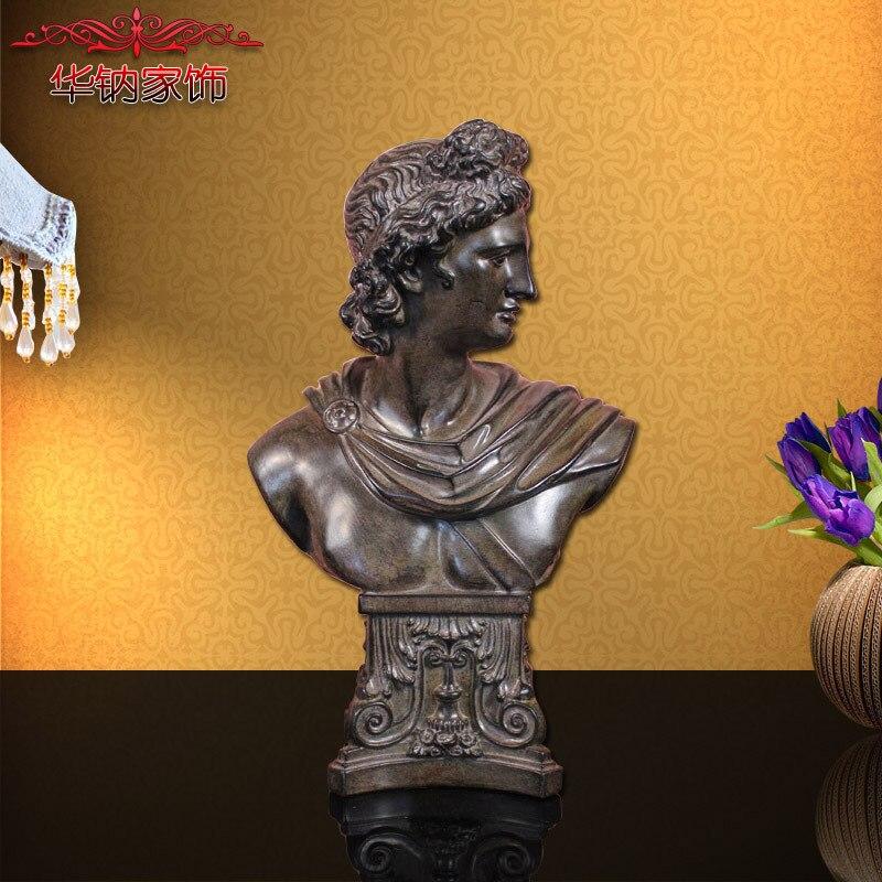 2016 Style européen en trois dimensions Statue David Avatar entrée bureau doux ameublement décor résine artisanat ornements