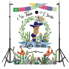 Mexican Fiesta Baby Shower Backdrop Taco Bout Little Boy Photography Background Party Banner Supplies
