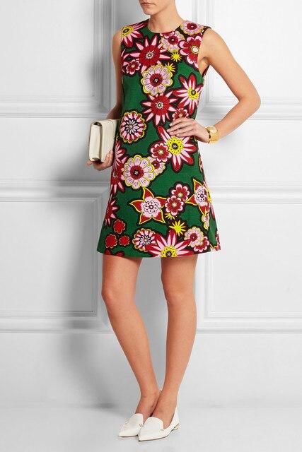2015 Vintage 70s Flower Print Women Dress Elegant Sleeveless Mini Dresses Z4067