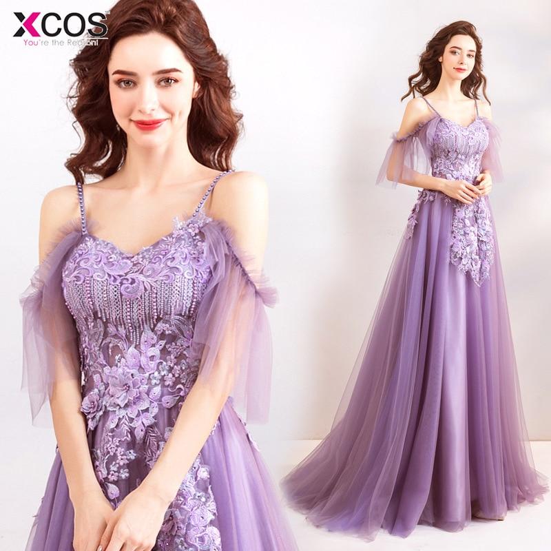 Hot Purple   Prom     Dress   A line Tulle Lilac Sweetheart   Prom   Gown Floor length Long Vestidos de fiesta Party   Dresses   2018
