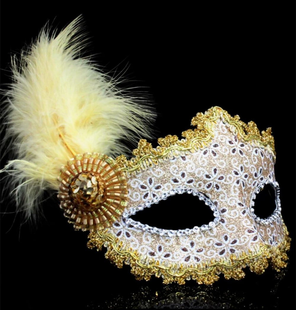 Feathered Venetian Masquerade Mask Promotion-Shop for Promotional ...