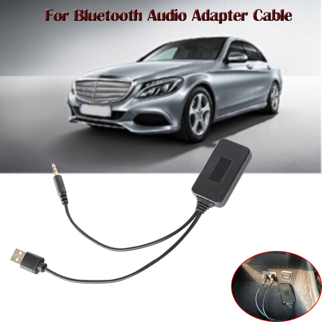 Car Stereo AMI MDI Music Interface Bluetooth AUX Adapter Kit For Bluetooth 4.2 Audio Cable Music Auxiliary Input With USB Port