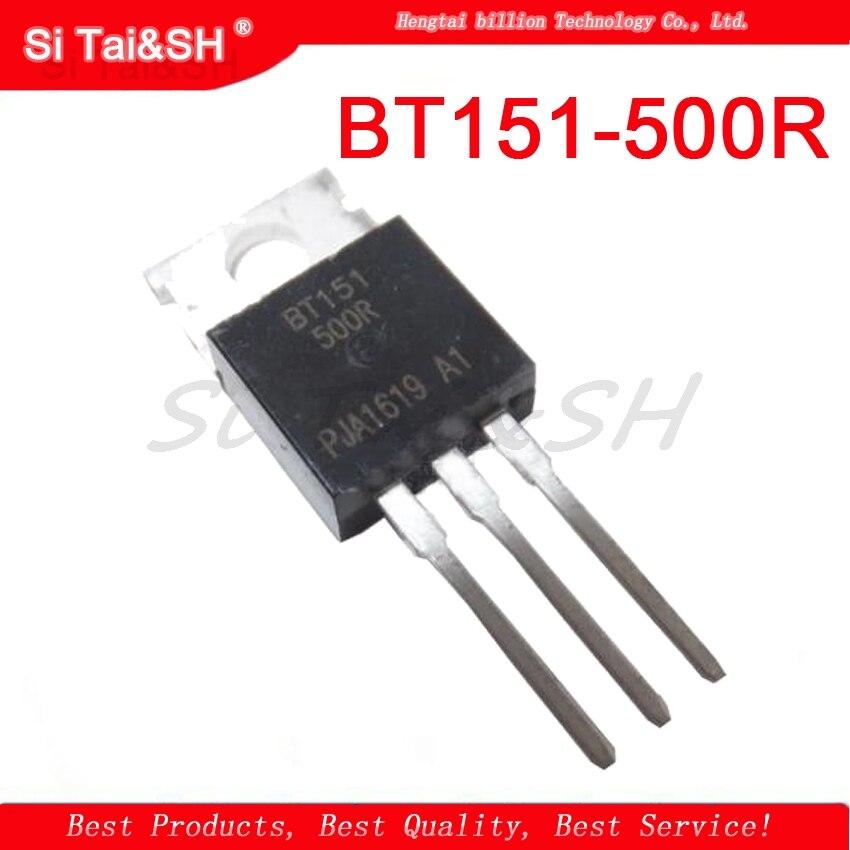 100 Pcs BT151-500R TO-220 BT151-500 Thyristors 500V 12A