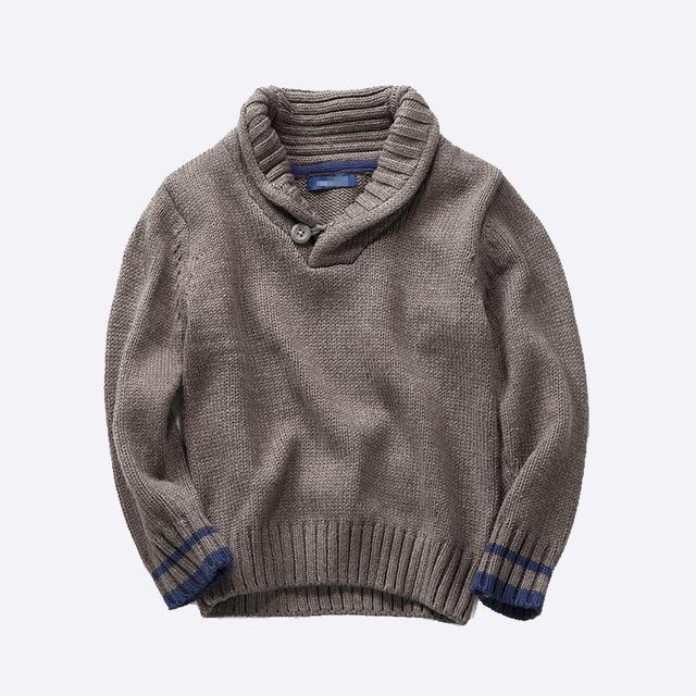 Nuevo Bebé Caliente Suéteres de Estilo Europeo y Americano de Los Niños niños niñas de algodón de cuello alto suéter suéter chaqueta de la ropa de Los Niños