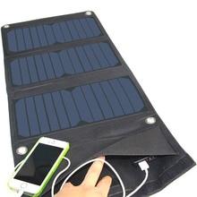 Banco de la Energía Solar 21 W Panel Solar Plegable Del Cargador de Batería Externa Portable Universal Powerbank Para el iphone Para Teléfonos Xiaomi