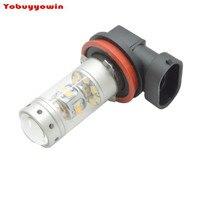 2 Cái H11 140 Wát 28-5W-Chips LED Fog Sáng Bóng Đèn 12-24 V H8 Xe Đèn LED Chạy Ban Ngày/DRL Trắng (H4 H7 H16 9005 9006 HB4 P13W