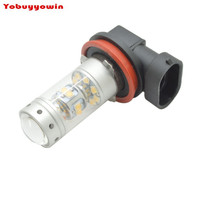 2Pcs H11 140W 28 5W Chips LED Fog Light Bulbs 12 24V H8 Car LED Daytime