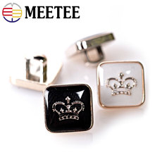 2016 Rushed Real Plastic Shank Botones Buttons 50pcs Button Monopoly Wholesale Fashion Exquisite Jewelry Buckle Shirt Cuff 10mm