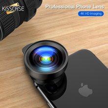 KISSCASE Universal 2 in 1 Wide Angle Macro Lens Camera Kits Mobile Phone Macro P