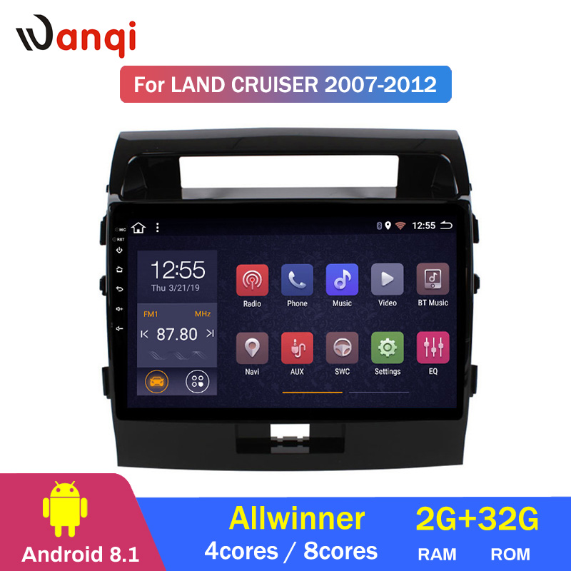 2G RAM 32G ROM Android 8.1 CAR DVD GPS Player For Toyota Land Cruiser 200 LC200 2007 2012 Radio Navigation