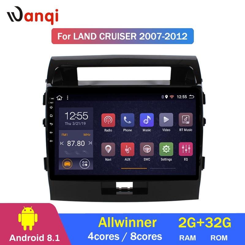2G RAM 32G ROM Android 8.1 GPS DO CARRO DVD Player Para Toyota Land Cruiser 200 LC200 2007- 2012 Rádio de Navegação