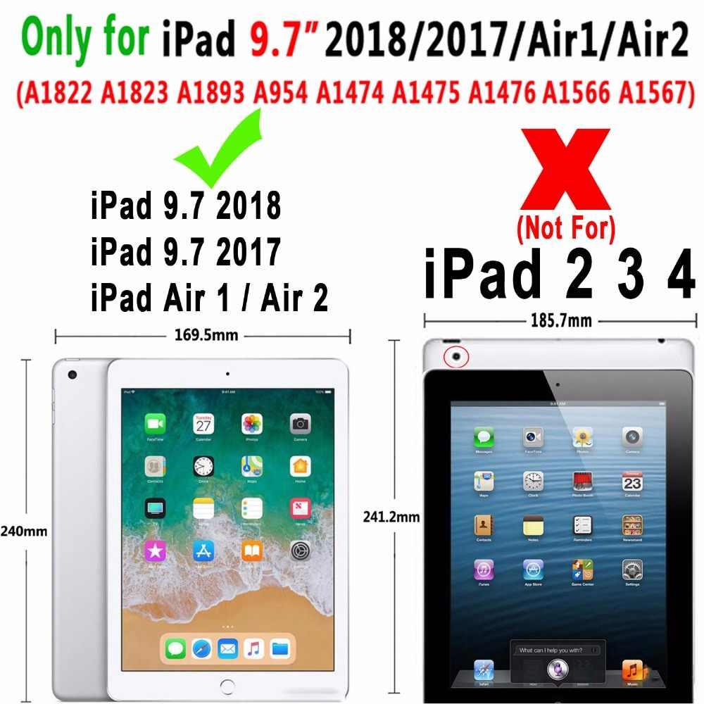 Умный кожаный чехол с поворотом на 360 градусов для Apple iPad 9,7 2017 2018 Air 1 2 5 6 5-6-го поколения