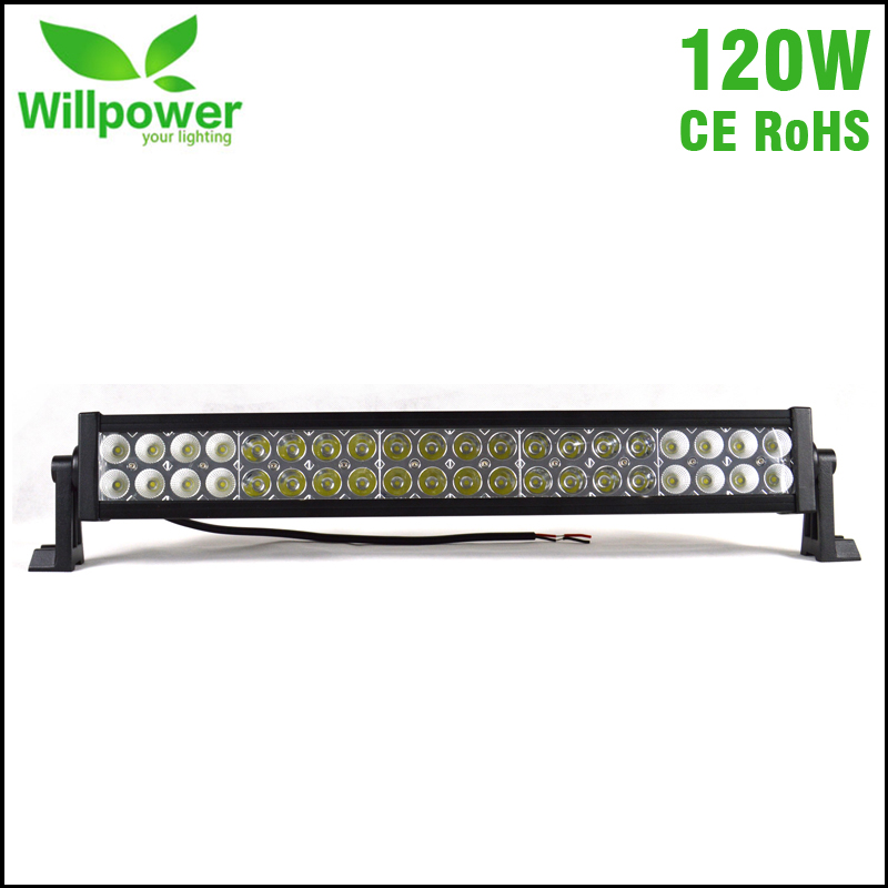 Free Shipping waterproof 12 volt 22 inch120w 4x4 car truck tractor off road work LED font
