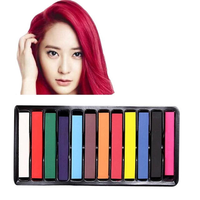 Temporary Dye Color Hair Chalk For Hair Color Chalk Wax 12 Pcs Set