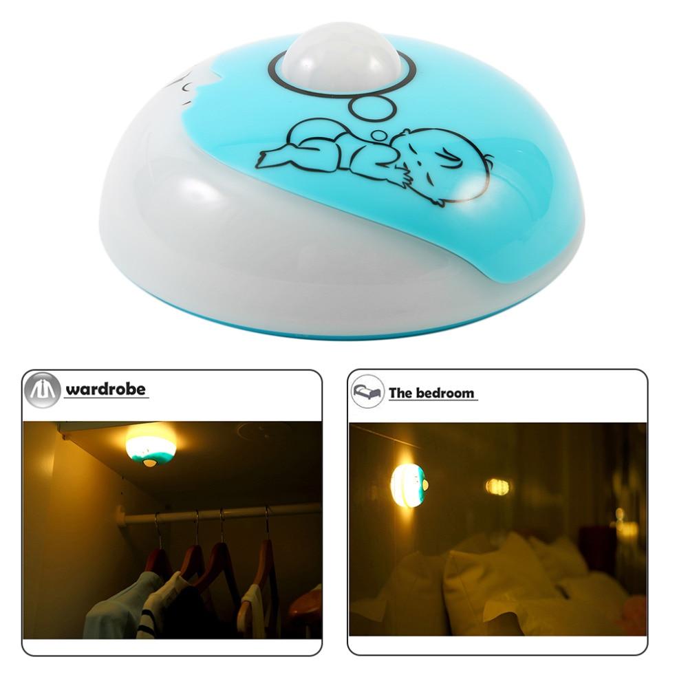 USB Crescent Adorable Treasure Night Light Blue/White Nightlamp For Children Baby For Room Decoration For Gift