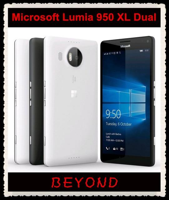 US $188 0 |Microsoft Lumia 950 XL Dual Sim Original Unlocked Windows 10  Mobile Phone LTE GSM 5 7'' 20MP Octa Core 3GB RAM 32GB ROM 3340mAh-in  Mobile