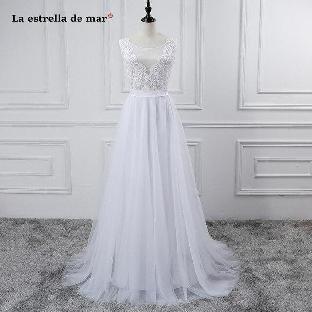Bruidsjurken 2018 Новый Кружева Линия Белый беременная женщина Boho торжественное платье торговаться Robe Mariage наличии свадебные платья