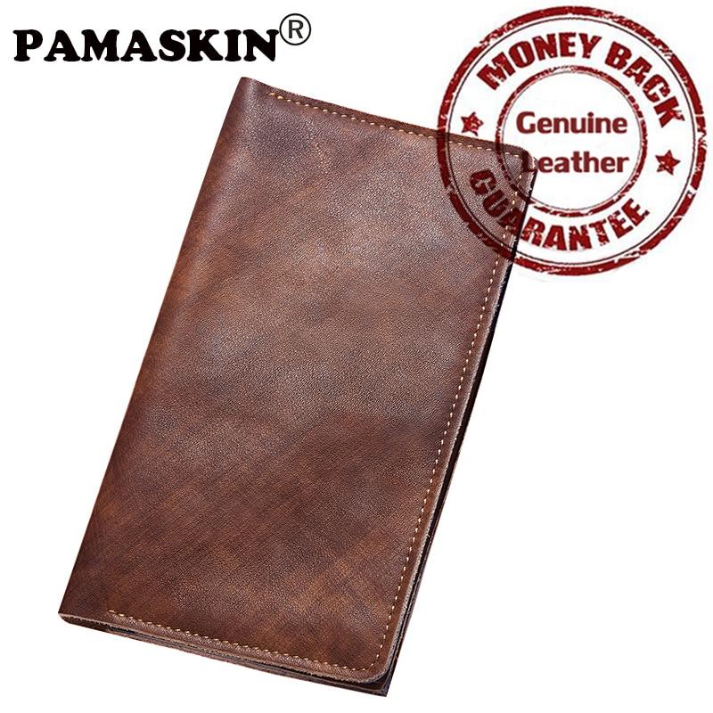 Brand Genuine Leather Men Passport Cover Card Wallets Purses 2017 New Arrivals Premium Hot Slim Passport Holder Male Card Holder famous brand new passport card holder