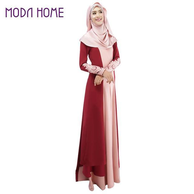 5f5cde2b63 New Muslim Abaya Islamic Clothes For Women Muslim Long Sleeve Maxi Dress  Turkish Islamic Abaya Women