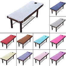 Massage Table Sheet SPA Beauty Bed Sheet With Holes Body Care Non-slip Mattress(China)