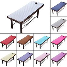 Massage Table Sheet SPA Beauty Bed Sheet With Holes Body Care Non-slip Mattress
