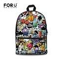 Children Graffiti School Bags Kids Canvas Schoolbag For Boys Girls Funny Harley Quinn and Joker Print Backpack Mochila Bookbag