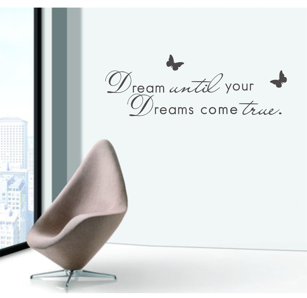 modern english wall sticker quotations dream until your dreams