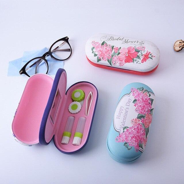 Милый китайский стиль очки бокс для цифровой печати руководство двойной очки коробка контактные линзы красота ученик коробка NX