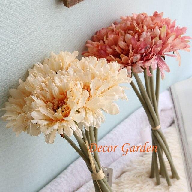 Echten Hauch Kunstliche Blume Gerbera Daisy Sunflower Decor