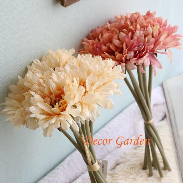 Real Touch Artificial Flower Gerbera Daisy Sunflower Decor Fake ...