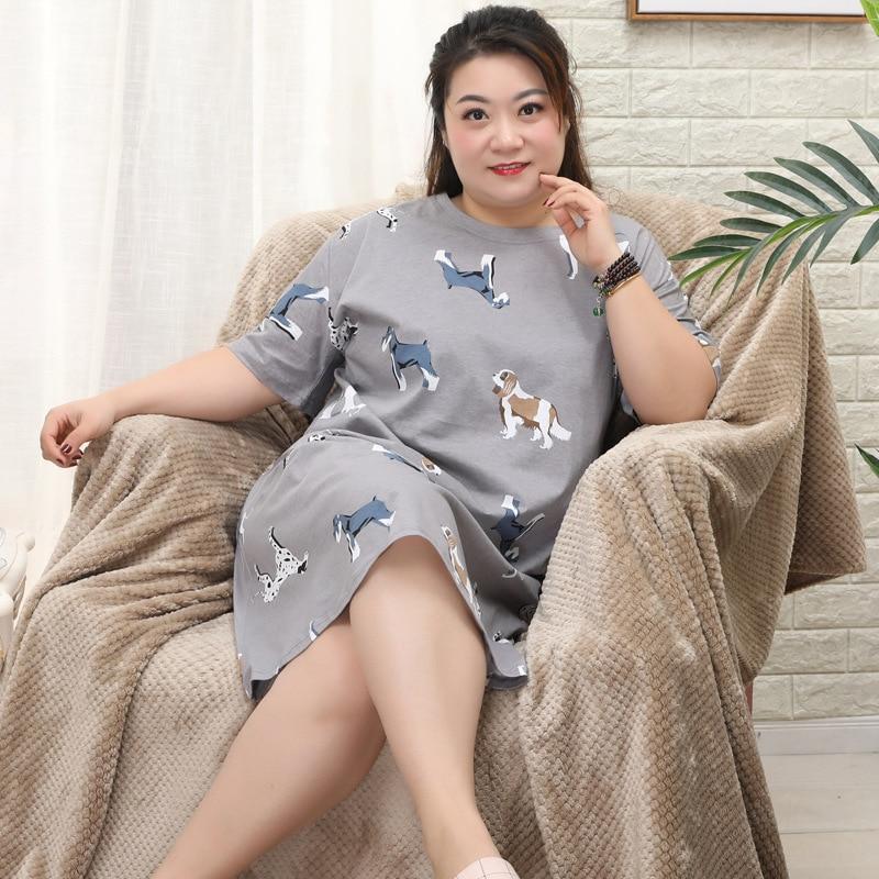 Image 4 - Большие размеры XXXXXL, женские ночные рубашки, 100% хлопок, летняя Домашняя одежда, сексуальная одежда для сна для мамы, ночное белье, сексуальное нижнее белье, 130 кг 4XL-in Ночные сороки и пижамы from Нижнее белье и пижамы on AliExpress - 11.11_Double 11_Singles' Day