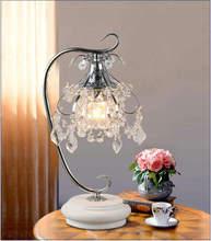 Artpad Lámparas de mesa de cristal de lujo para dormitorio, decoración moderna para boda, LED regulable, lámpara de escritorio para cabecera, iluminación para sala de estar