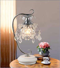 Artpad luxo cristal candeeiros de mesa para o quarto moderno casamento decoração led regulável lâmpada mesa para sala estar iluminação cabeceira