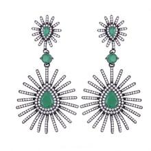 цены SisCathy Bohemia Women Trendy Design Noble Symbol Waterdrop Pendant Earrings for Ladies Statement Drop Earring Female Party