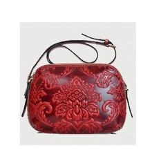 REGEM WOMEN BAG Chinese national wind flowers one shoulder inclined shoulder bag