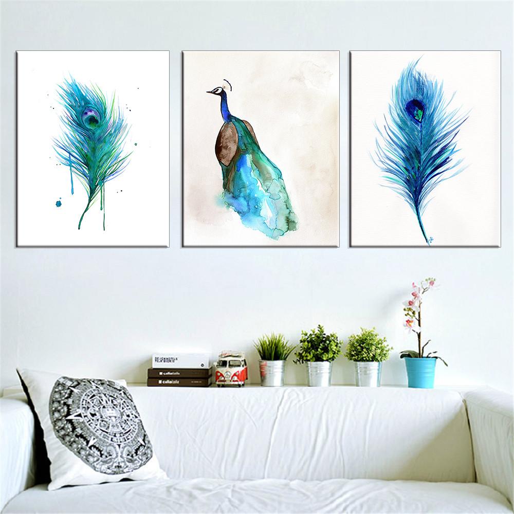 lienzo de pintura de pared del pavo real fotos cuadros decoracin la decoracin del hogar pinturas