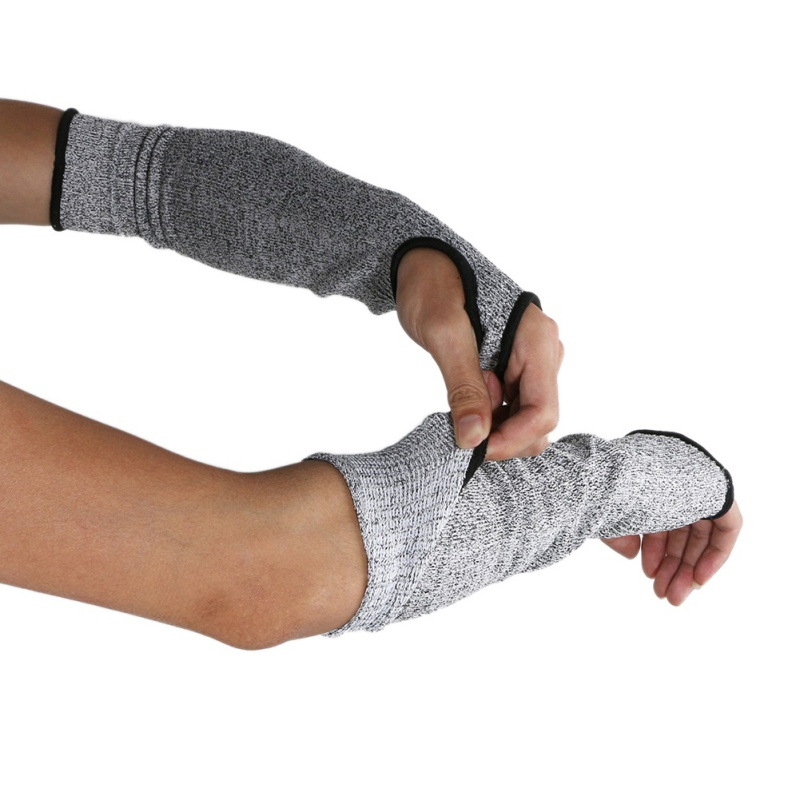 HPPE 5 Cut-Resistant Sleeve Arm Guard Anti-Cut Oversleeve Glove Protection
