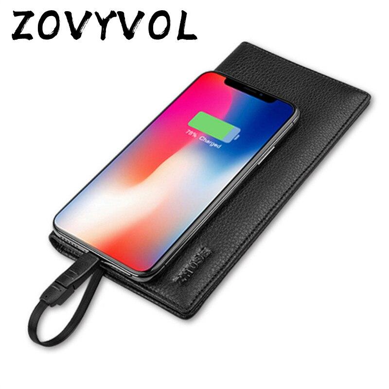ZOVYVOL 2019 unisexe portefeuille intelligent téléphone avec USB pour Long portefeuille de charge adapter pour Ipone et Android capacité 8000 mAh voyage
