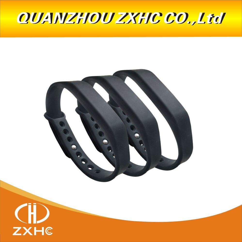 (3 Teile/los) Einstellbare Silikon Wasserdicht Nfc Armband Armband Ntag213 (kompatibel Ntag203) Tags