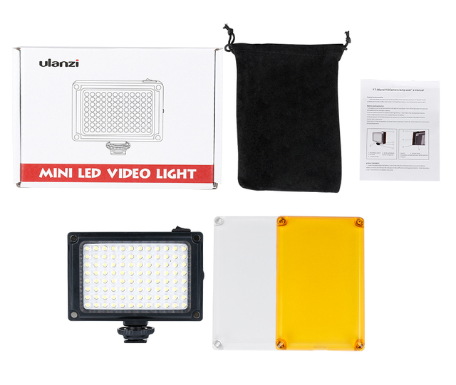 Ulanzi LED Photo lampa wideo na aparacie w uchwyt gorącej stopki do aparatu Canon Nikon na kamerze Camcordersx filmowcy na żywo tanie i dobre opinie ft85 Sony 3200K 5500K AA battery Yellow+white USB rechargeable 4 AA batteries Night Fill Lighting