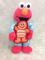 Teach Me Elmo Sesame Street Elmo de pelúcia 40 cm brinquedos de pelúcia