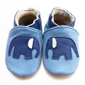 New Fitness Cute Genuine leather baby shoes blue soft slip-resistant outsole toddler shoes Elephant  toddler  Hot sale
