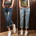 Оптовая и большой код Харен брюки женские летние девять очков разорвать отверстие и глубина женские джинсы 688