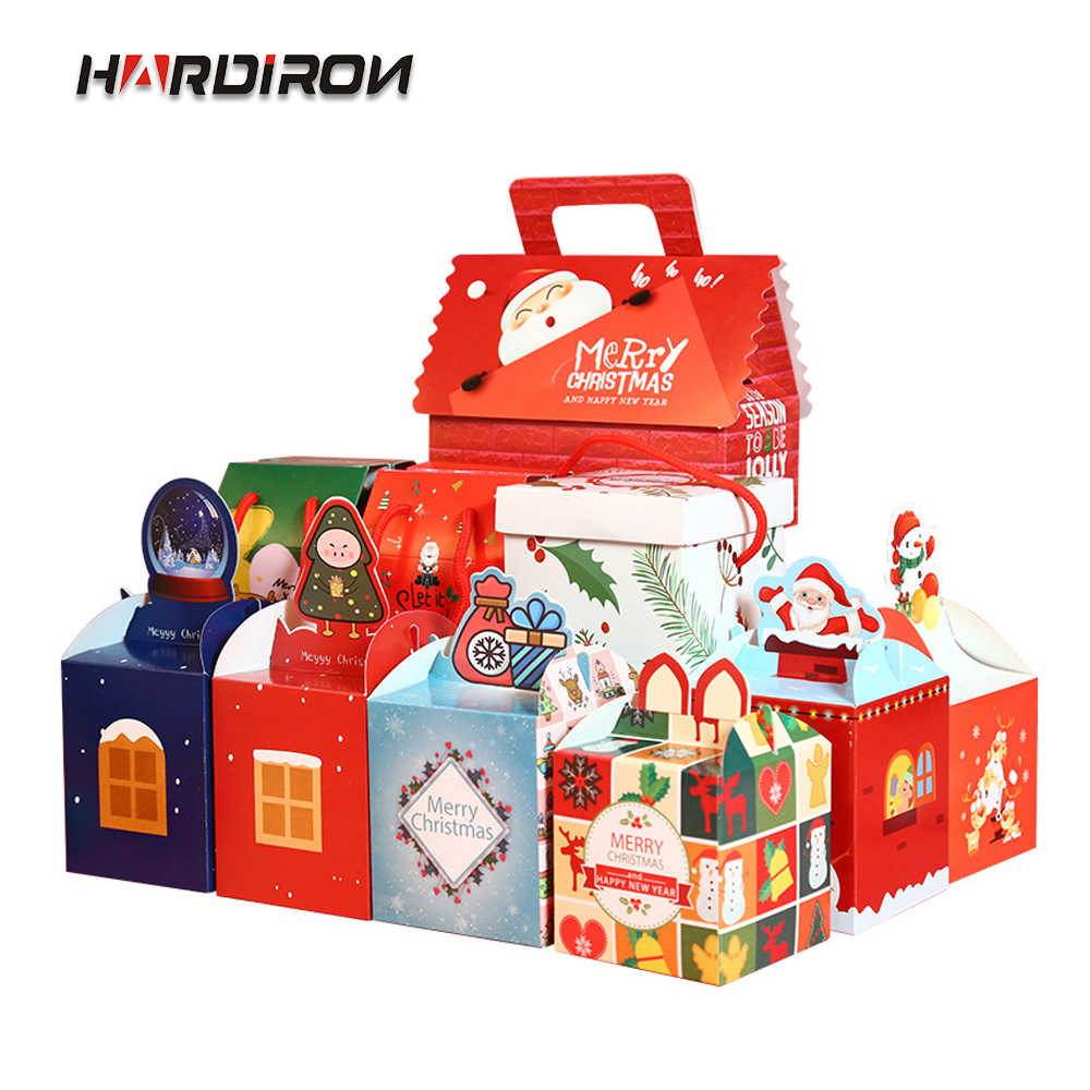 HARDIRON 20PCS Variety Styles of High-end Cartoon Christmas Apple Packaging Box Candy Cake Gift Personalized Gift Box