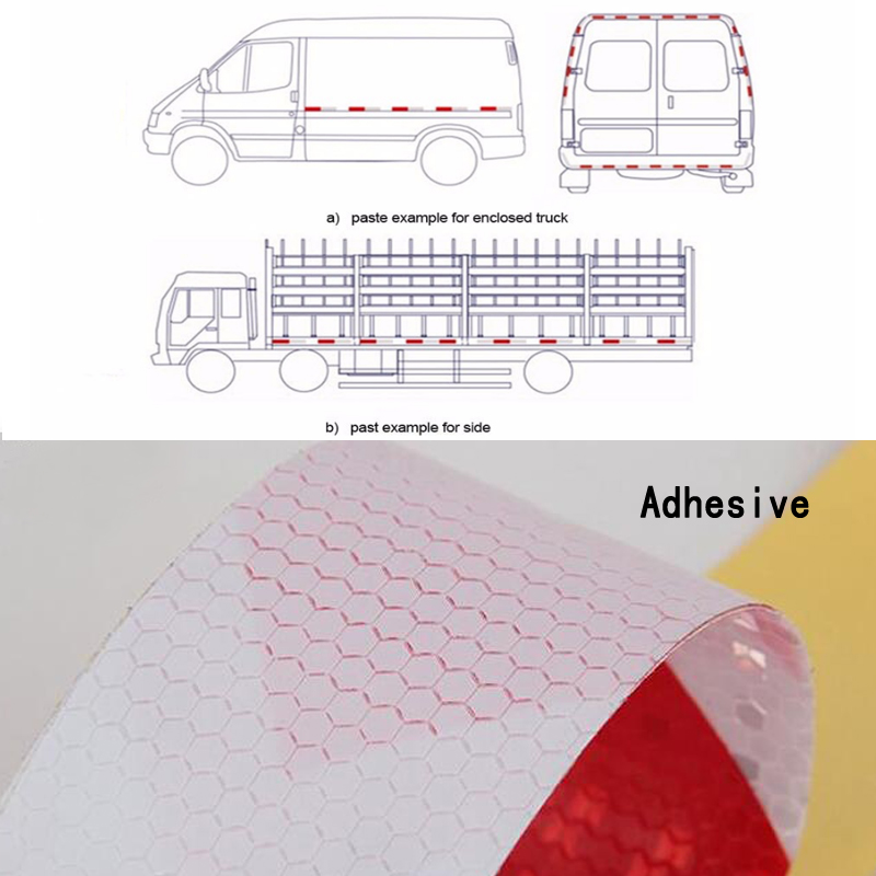 7.5cm X30m High Quality Car Accessories Reflective Car Stickers Adhesive Tape For Car Safety