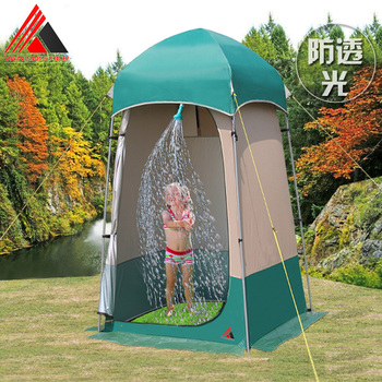 VANQUISHER New style easy operate camping shower tent/toilet/dressing changing room tent/Outdoor moveable WC bottom can move