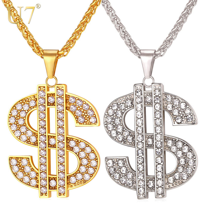 u7-us-dollar-money-necklace-pendant-316l-stainless-steel-gold-color-chain-for-women-men-rhinestone-h