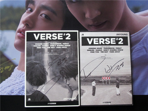 JJ PROJECT JB  autographed mini 2nd album VERSE 2 CD+photobook K-POP new korean 082017 bigbang autographed made full 2016 3th album cd photobook random for 6 versions group 5 members gifts 01 2017